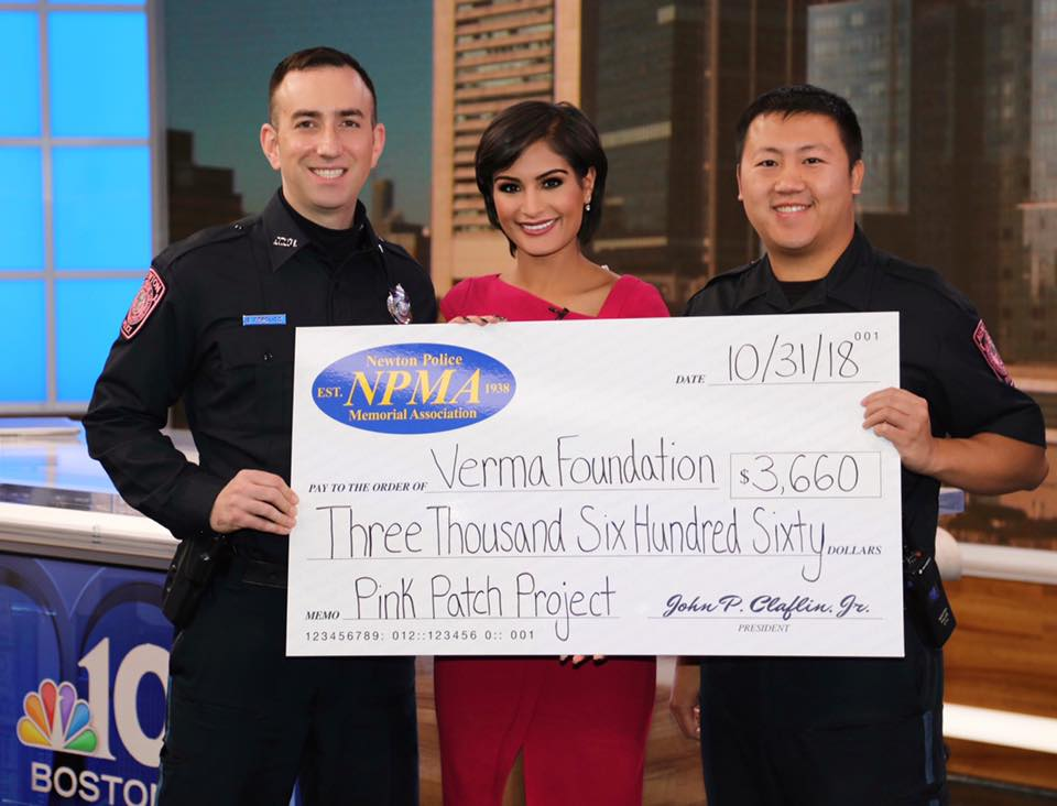 Newton Police Department's Pink Patch Project
